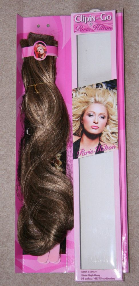 100 X Paris Hilton Clip In Go 18 Inch Hair Extensions Maple Honey